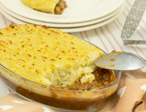 Sformato di carne e patate, tortino con carne tritata, pasticcio facile