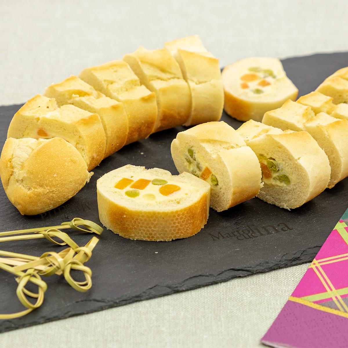 Filone di pane ripieno