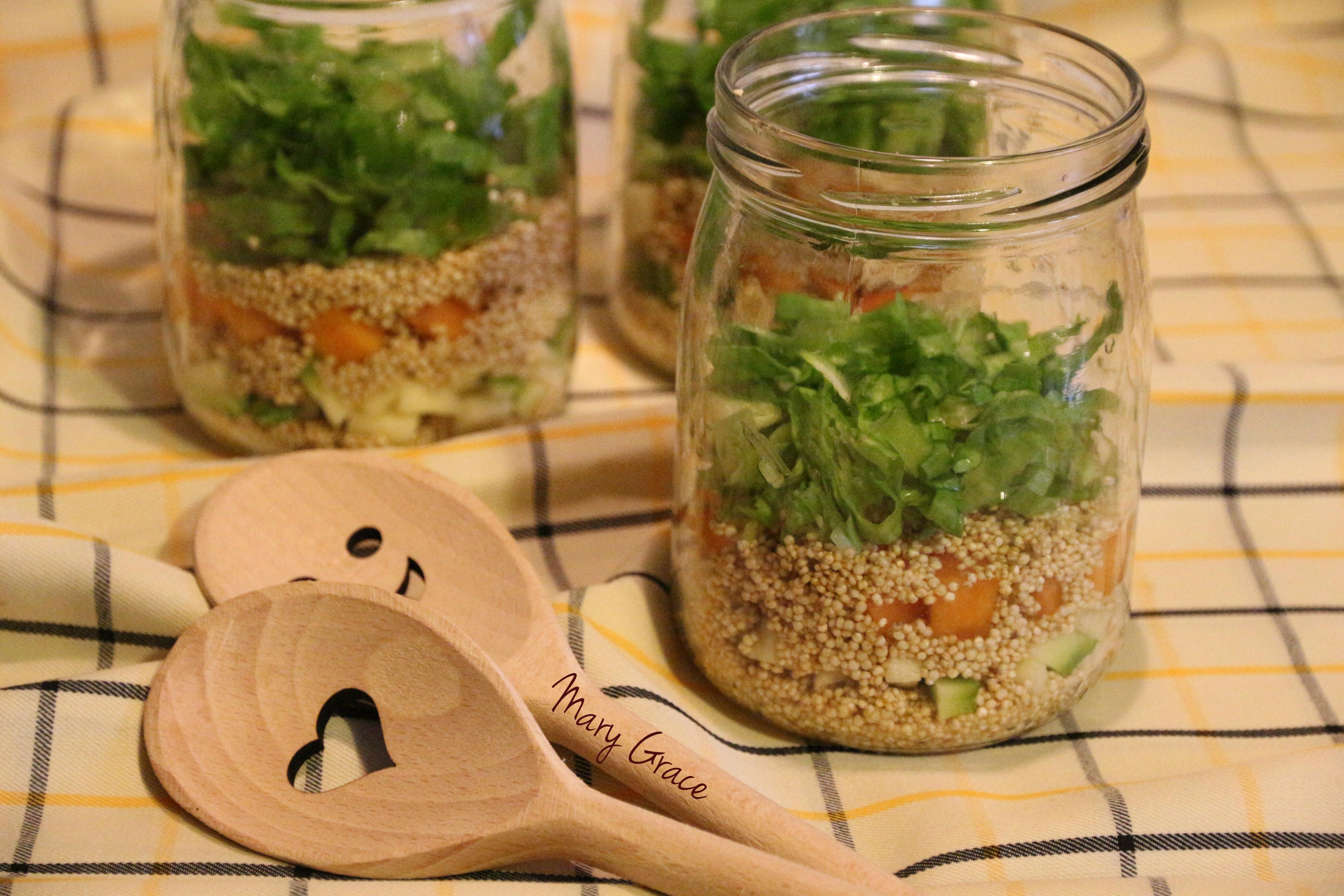 Quinoa vegetariana in vetro mary grace tra le nuvole in cucina - Una vegetariana in cucina ...