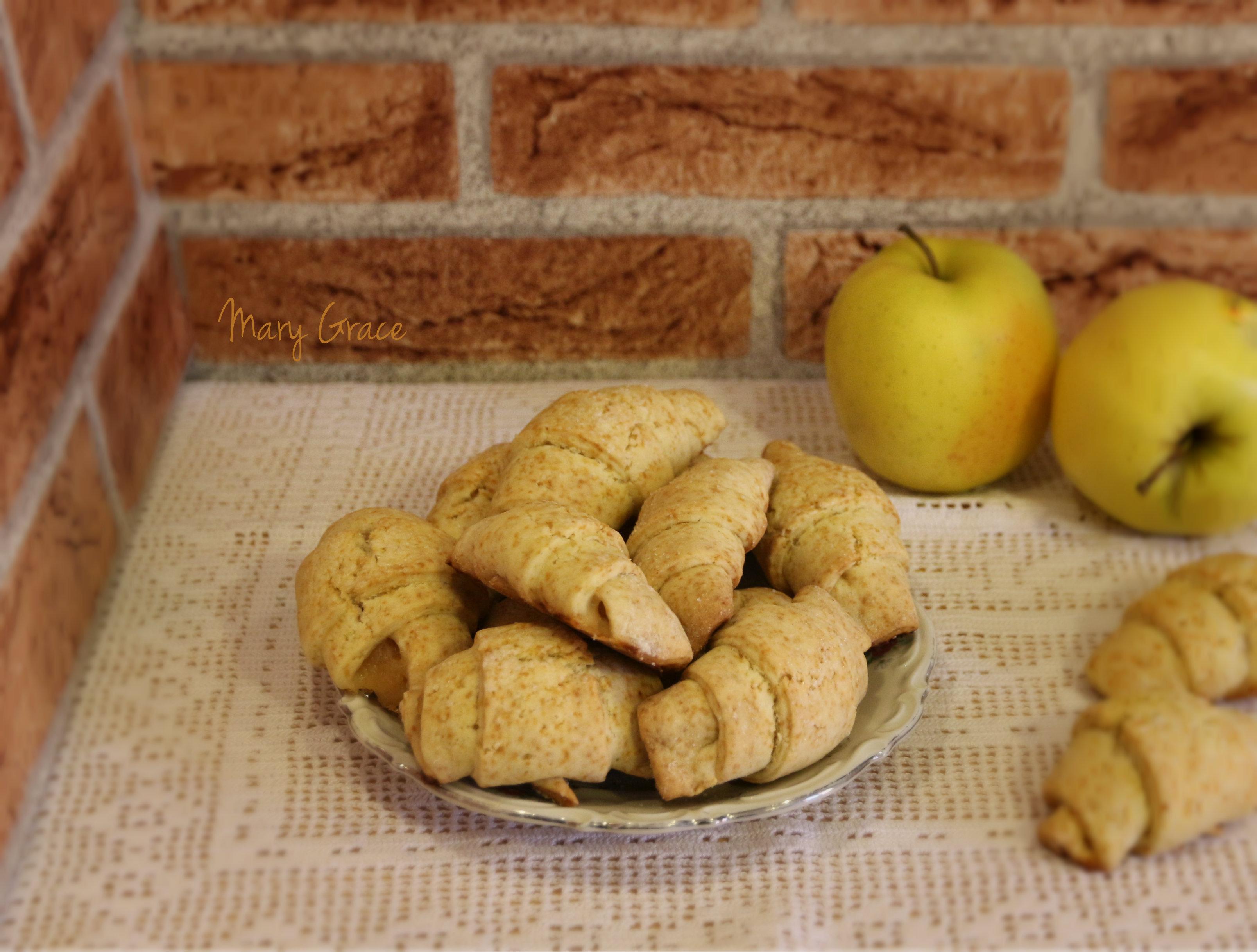Cornetti con mele, ricetta senza nichel