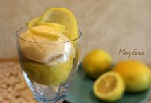 Gelato al limone senza lattosio e senza nichel