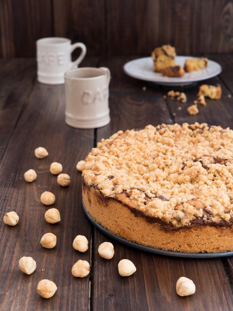Crumb cake alla nutella