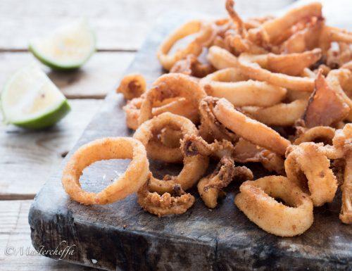 Anelli di calamari fritti croccantissimi