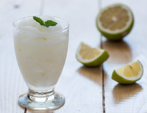 Granita di limone al profumo di menta