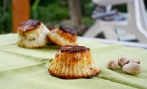 Sformatini di ricotta al pistacchio