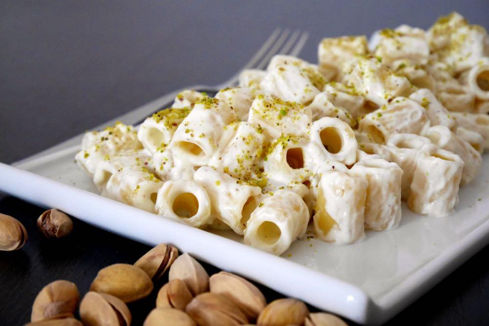 Pasta con crema di ricotta al pistacchio   Mastercheffa