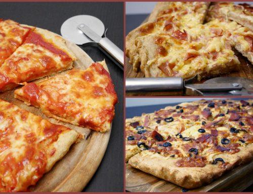 Pizza semintegrale a lunga lievitazione