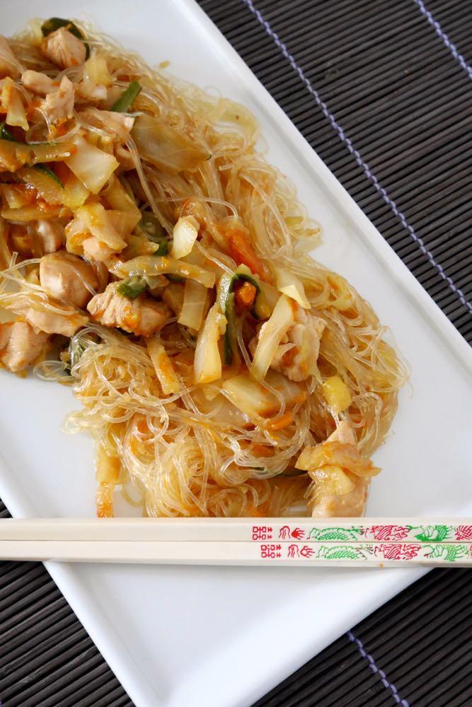 Vermicelli di soia con pollo e verdure mastercheffa for Ricette asiatiche
