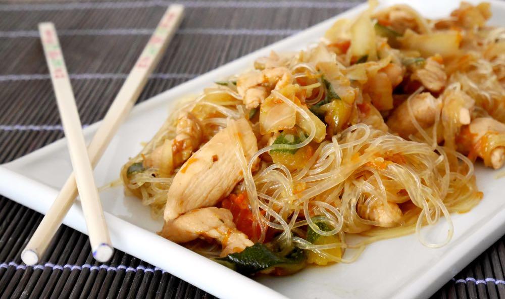 Ricetta Noodles Giapponesi Pollo.Vermicelli Di Soia Con Pollo E Verdure Mastercheffa