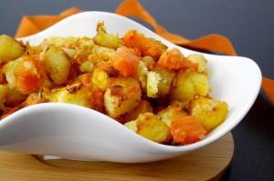 Dadolata di zucca e patate al forno