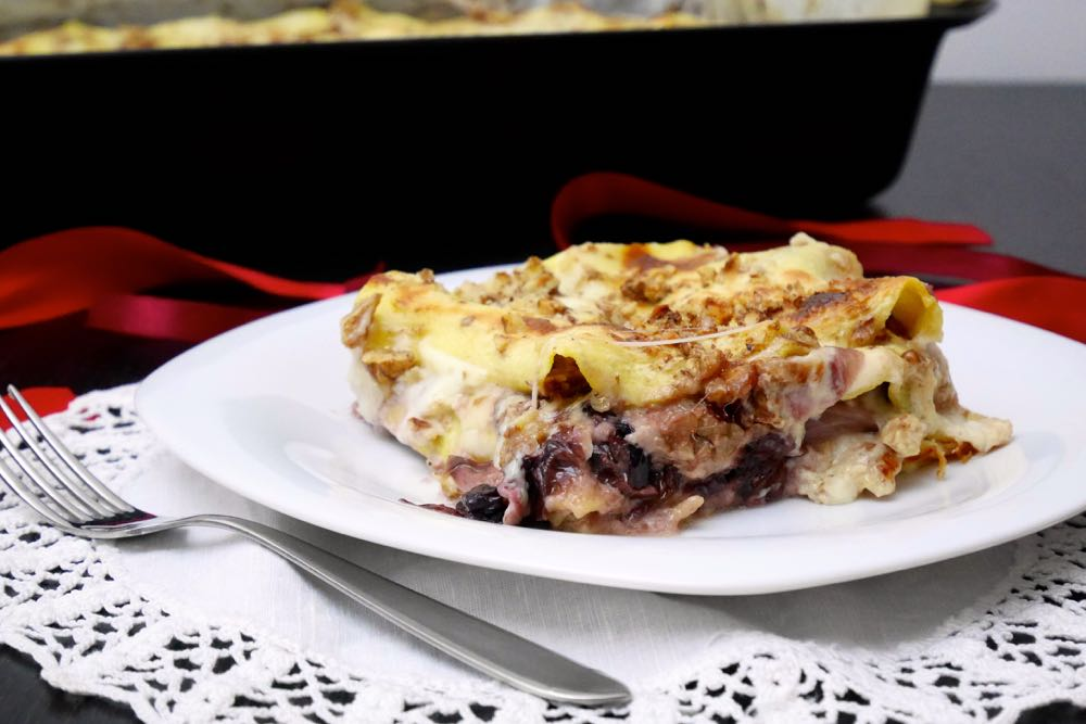 Lasagne radicchio, noci e gorgonzola | Mastercheffa