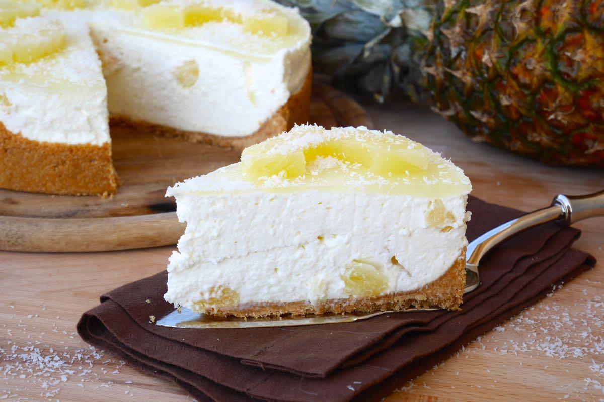 Cheesecake ananas e cocco