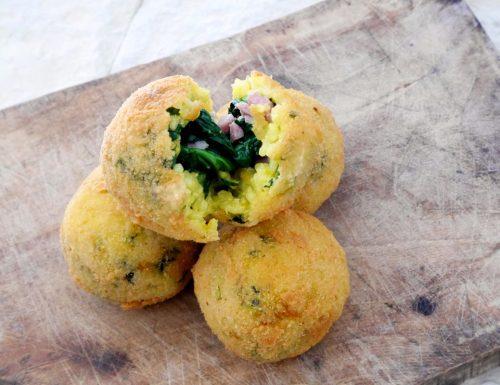 Arancine agli spinaci, ricetta siciliana