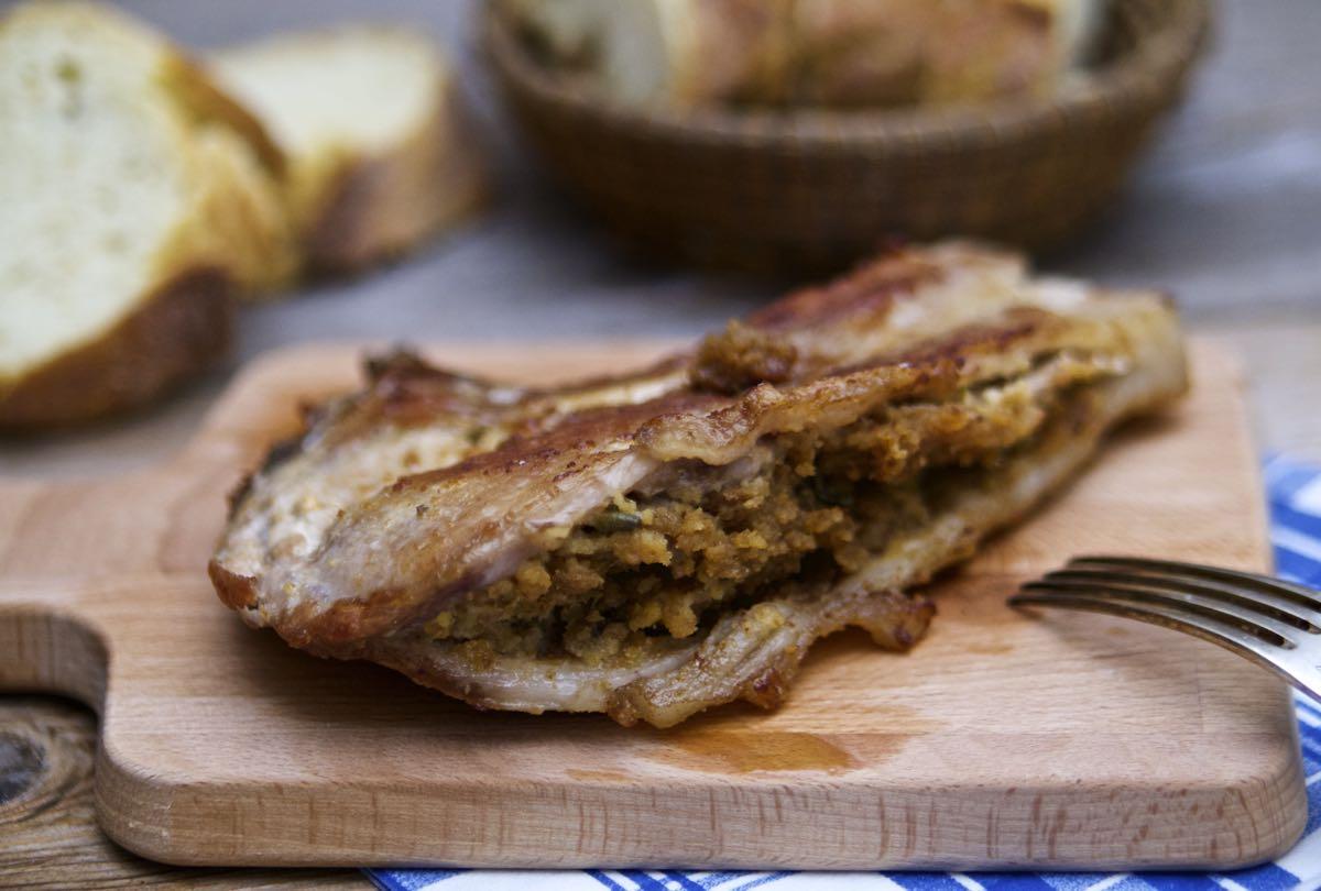 Costata di maiale ripiena alla siciliana