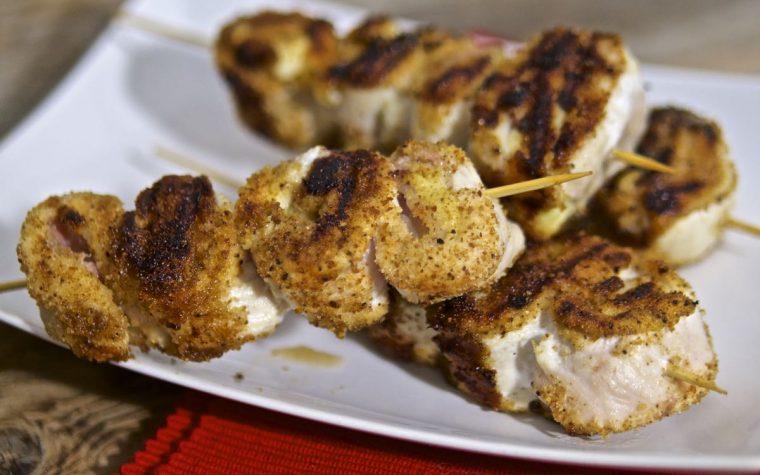 Spiedini di pollo golosi in padella