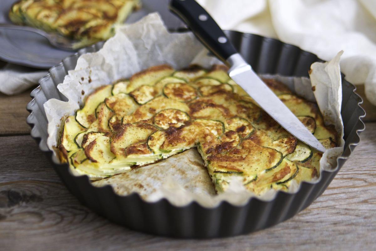 Tortino di patate e zucchine al forno