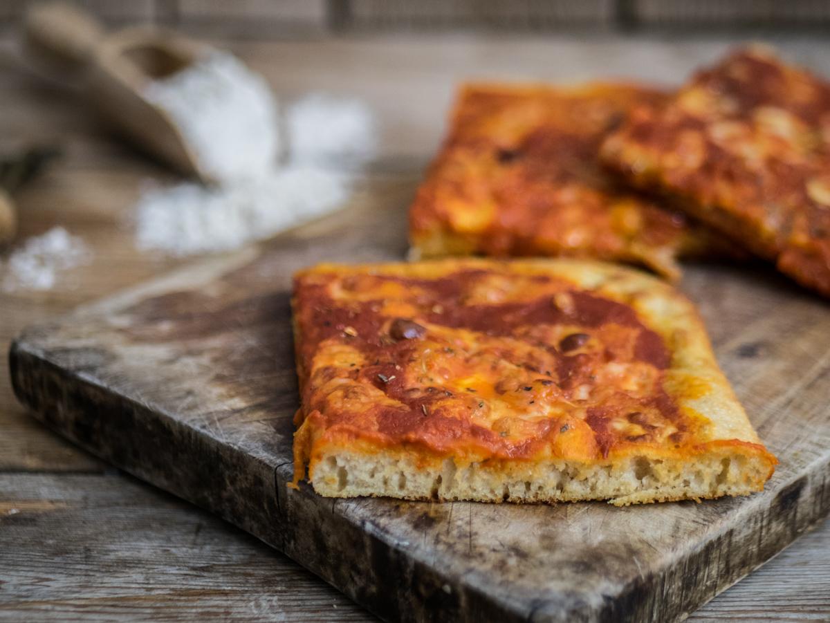 Pizza integrale con metodo Bonci