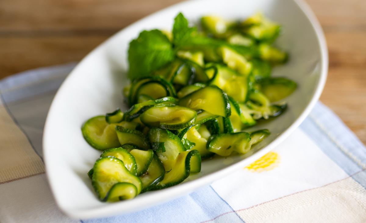 Carpaccio di Zucchine alla Menta