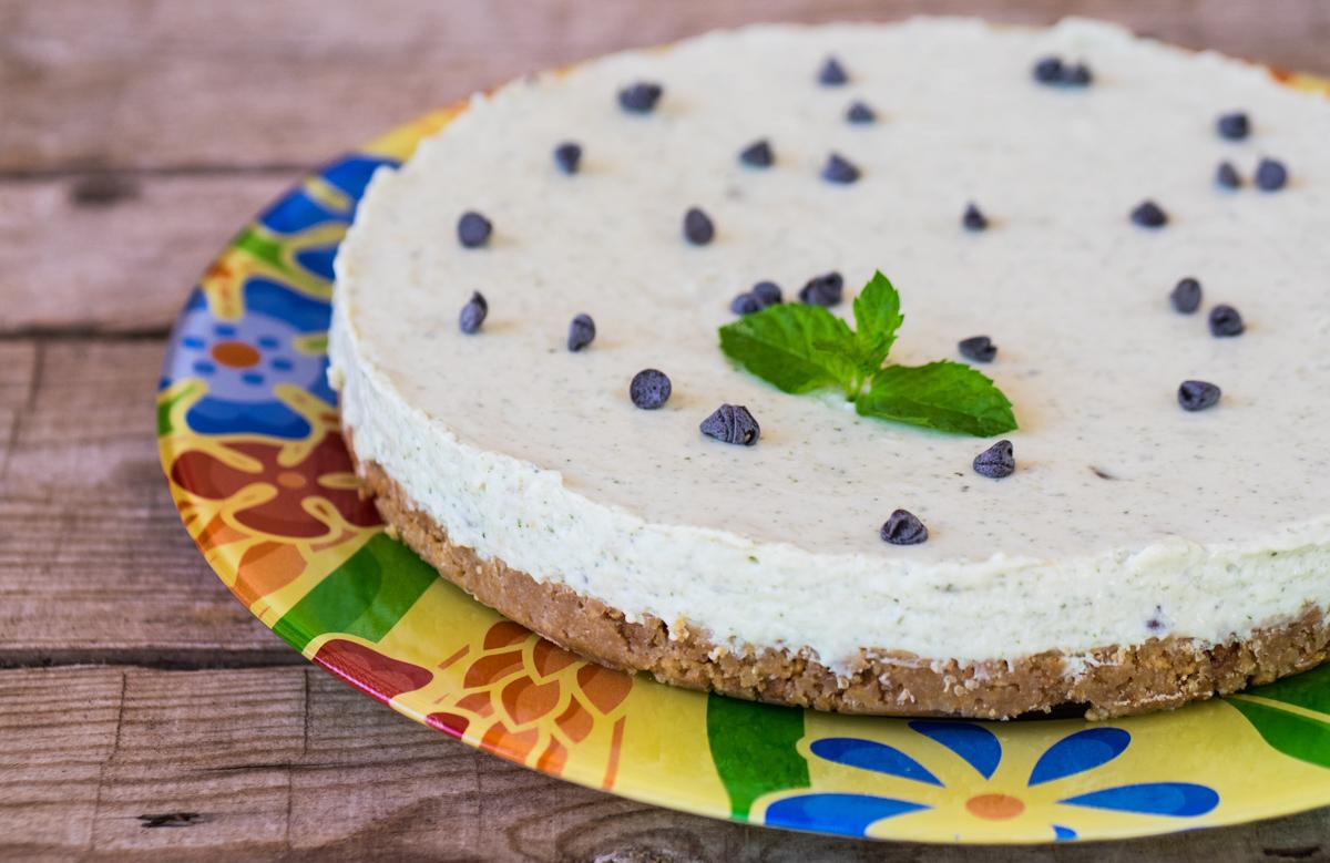 Cheesecake menta fresca e cioccolato