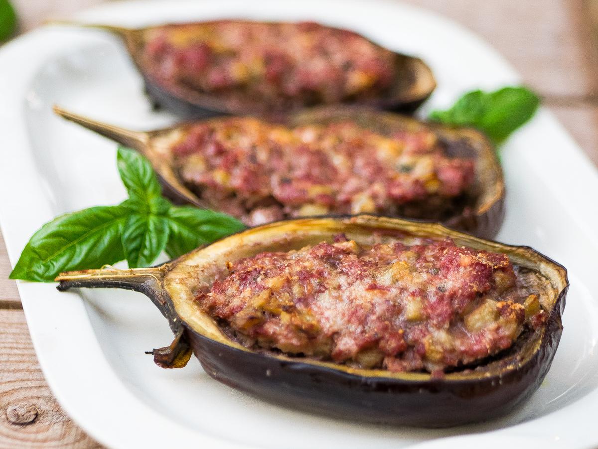 Melanzane ripiene di carne al forno mastercheffa for Melanzane ricette