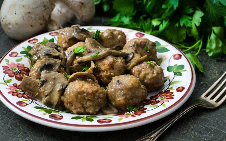 Polpette di carne ai funghi
