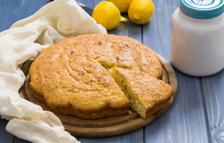 Torta di ricotta al profumo di limone
