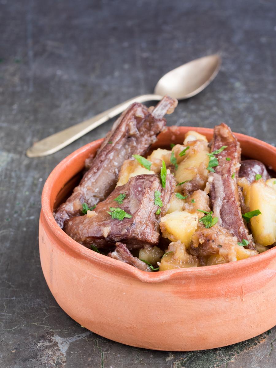 Agnello aggrassato - ricetta tipica siciliana