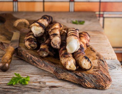 Cipollate catanesi – involtini di pancetta e cipollotti