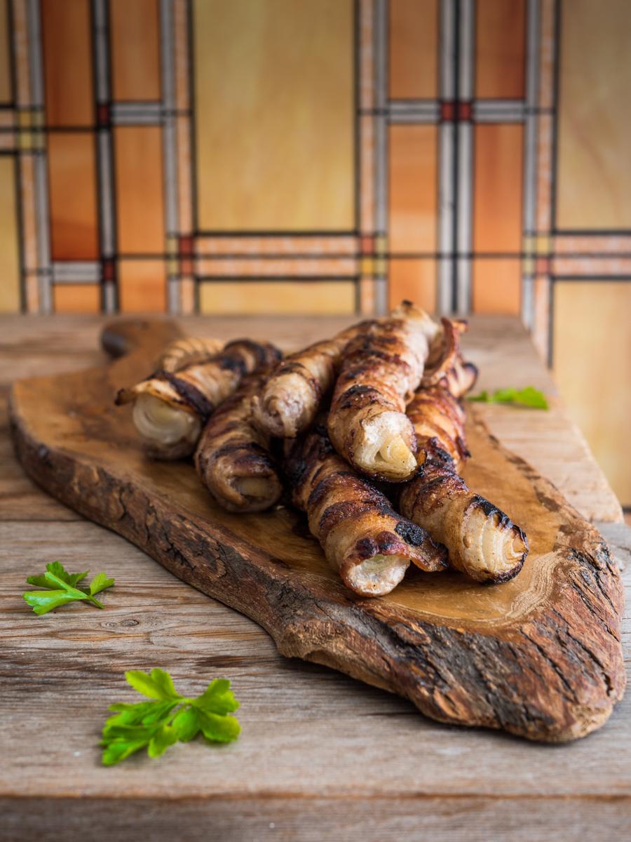 Cipollate catanesi - involtini di pancetta e cipollotti