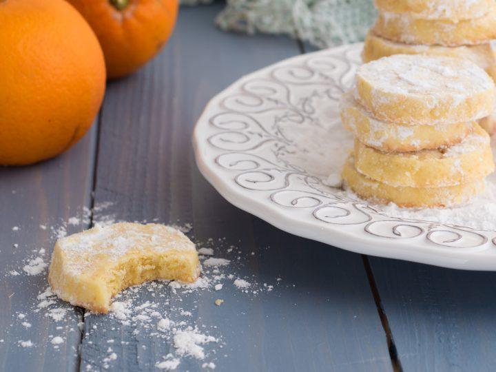 Orange meltaways - biscotti inglesi all'arancia