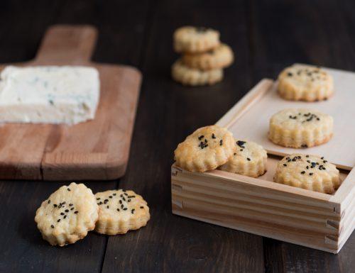 Biscotti salati al gorgonzola – ricetta finger food