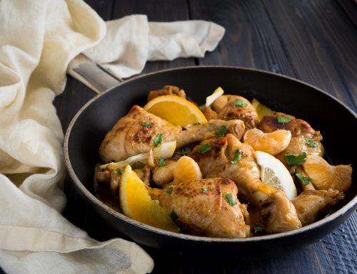 Fuselli di pollo agli agrumi
