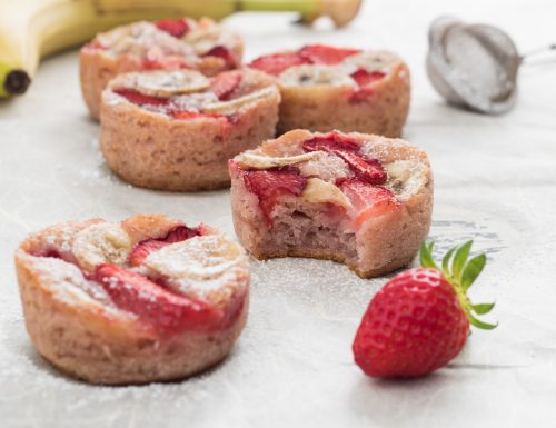 Muffin fragola e banana – ricetta vegan