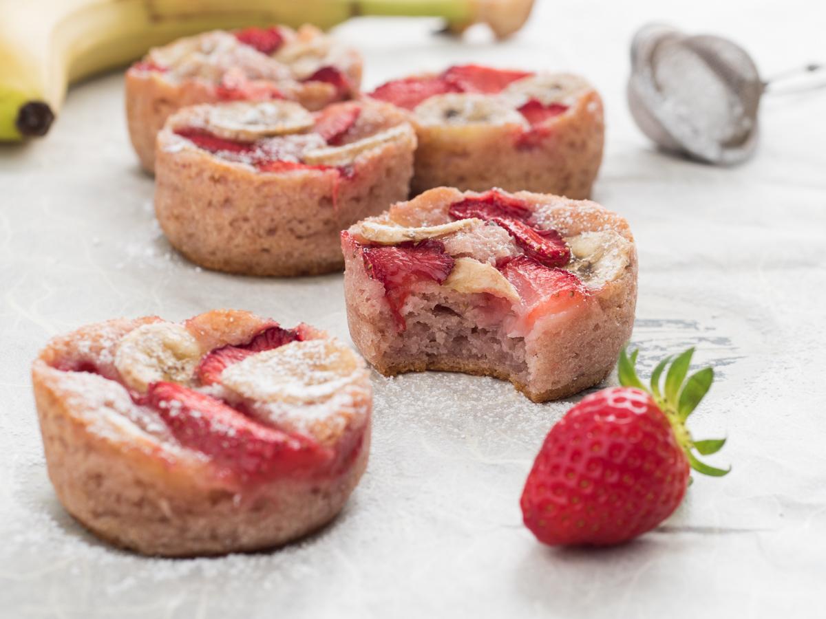 Muffin Fragola e Banana – Ricetta Vegan