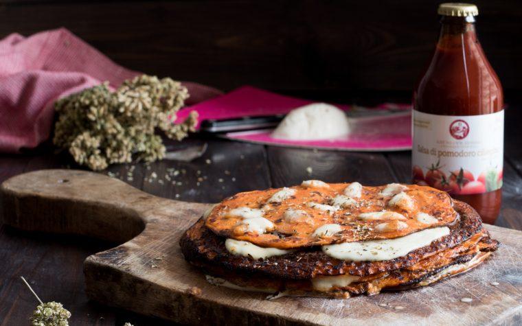 Torta di crêpe alla pizzaiola