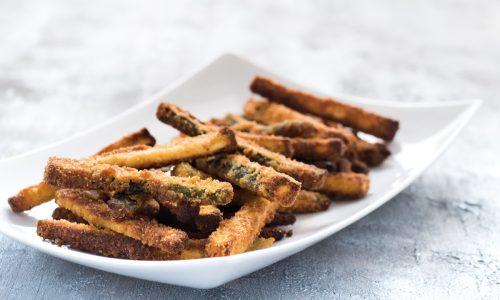 Stick di zucchine al forno croccanti