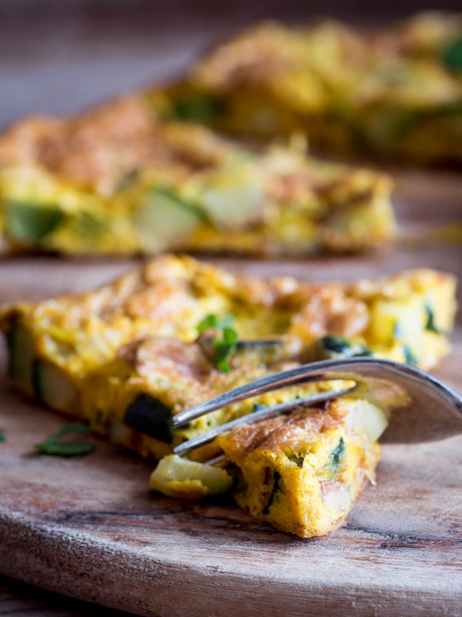 Frittata curry e zucchine