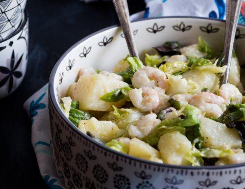 Insalata con gamberi e patate – ricetta facile