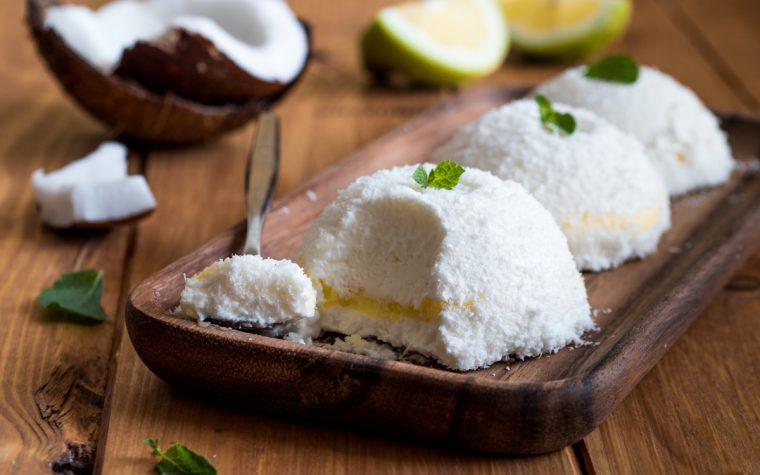 Baci gelato al cocco con lemon curd