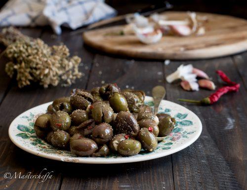 Olive schiacciate – ricetta siciliana