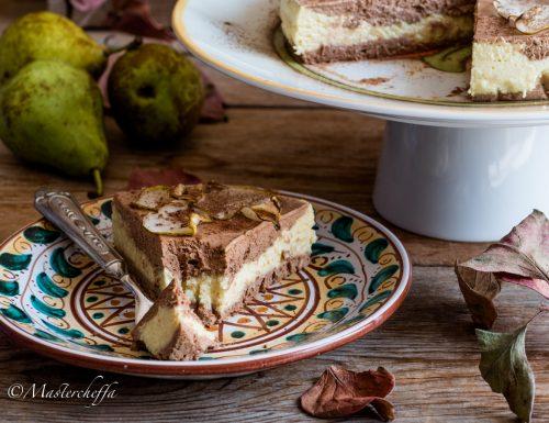 Torta mousse pere e cioccolato