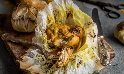 Pollo curcuma e miele al cartoccio