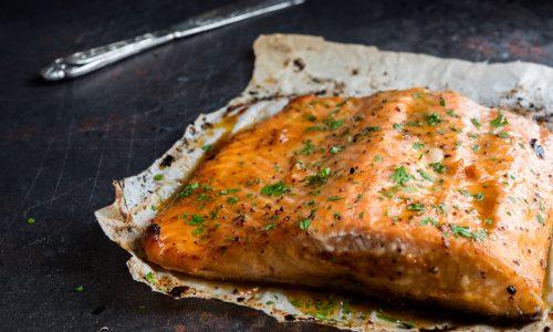 Filetto di salmone miele e senape