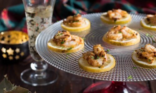 Gamberetti gratinati al limone - ricetta finger food