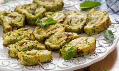 Spiedini di frittata alle zucchine filanti