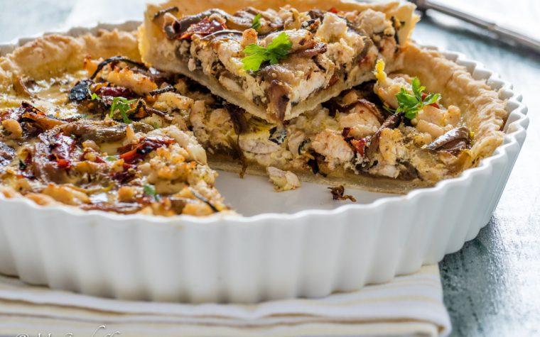 Torta salata pollo e verdure arrosto