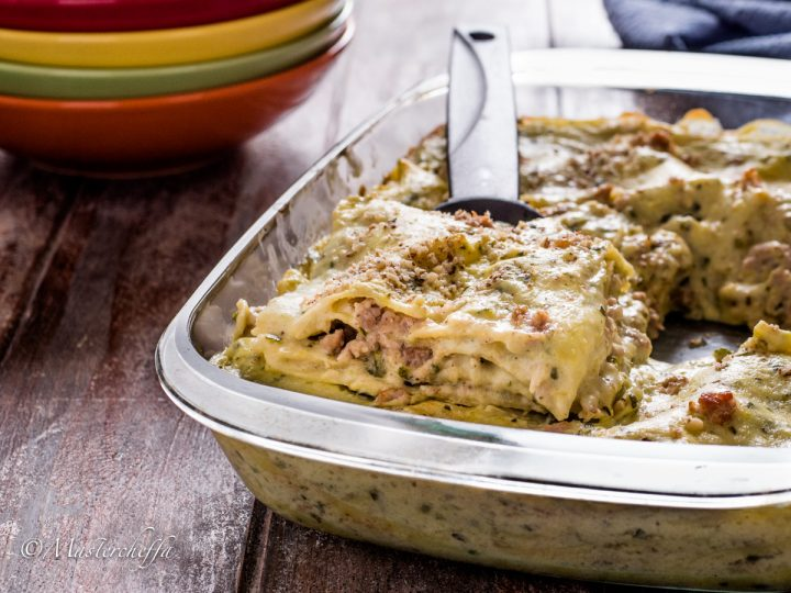 lasagne zucchine salsiccia e noci