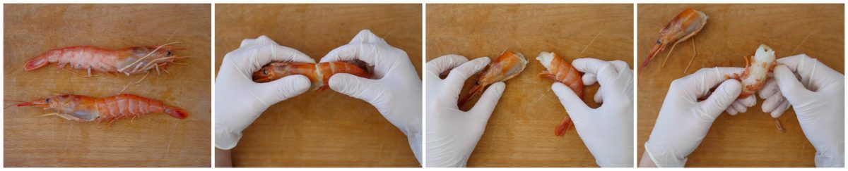 Come pulire i crostacei - i gamberi