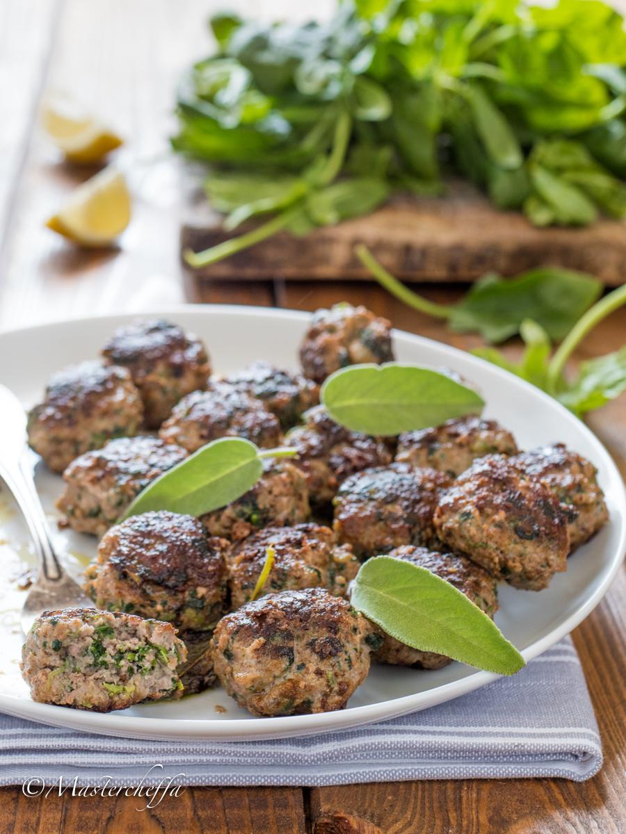 Polpette di Spinaci e Carne con Burro e Salvia