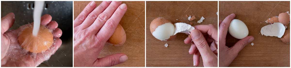 uova sode senza romperle passo passo
